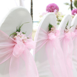 $enCountryForm.capitalKeyWord Australia - Hot Sale Organza Chair Sashes Bow Cover chair sashes tulle For Weddings Events &Party Banquet Christmas Decoration mint green