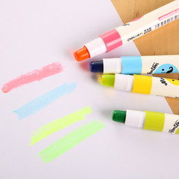cartoon highlighter Canada - New cute school highlighters marker pen Cartoon Flat Solid rotatable Key Notes advertising 5 color office school supplies