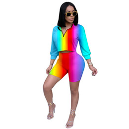 Wholesale stretchy bodycon dress sexy resale online – 2 Piece Set Women Sexy Long Sleeve Top And Shorts Bodycon Tracksuit Clothing Casual Two Pieces Stretchy Outfits