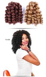 $enCountryForm.capitalKeyWord Australia - 8 inch Ombre Jumpy Wand Curl Crochet Braids 22 Roots Jamaican Bounce Synthetic Crochet Hair Extension