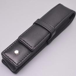 Vente en gros En gros noir en cuir PU MB Pen Case Stationery Bureau haute qualité Pen Pouch Brand Set cadeau sac de crayon
