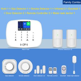 ip home alarm Australia - Hot Tuya 433MHz Wifi Gsm 3G 4G with ip camera Home Security Alarm System Wireless with Android ios app