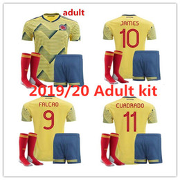 f7c96323a51 2019 20 Copa América Colombia soccer jerseys 2019 20 Adult suit home FALCAO  JAMES CUADRADO TEO BACCA custom number football kit
