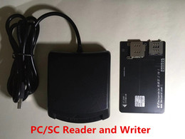PC SC USB Sim Card Reader and Writer Card Smart Reader Card with USB Cable for Hicardsim 7 and ohter unlock sim chips on Sale