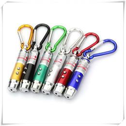 Flashlight Pens Wholesale Australia - Outdoors LED Flashlight 3 In 1 LED Light Red LED Laser Pen Pointer Flash Light Torch Flashlight Emergency Keychain