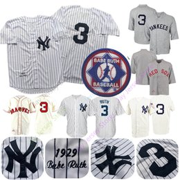 885efb30e52 Babe Ruth Jersey Men Women Youth Yankees 1929 Cooperstown Boston Braves Cream  White Pinstripe Grey Black Home Away All Stitched