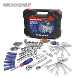 Car tools soCket online shopping - WORKPRO Car Repair Tools Mechanic Tool Set Sockets Set Tools for Auto Screwdrivers Metric SAE Wrench Ratchet Spanners hand