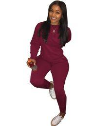 $enCountryForm.capitalKeyWord UK - Designer Women clothes long sleeve outfits two piece set pullover sweatshirts tracksuit jogging sport suit sweatshit tights sport suit klw2