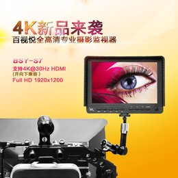 "lighting fields Canada - Freeshipping BESTVIEW S7 4K camera HDMI HD monitor video TFT field 7"" inch DSLR lcd monitor 1920*1200 for Canon 5D Mark III IV 6D for Nikon"