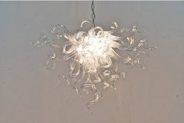 $enCountryForm.capitalKeyWord Australia - Pure Clear Blown Glass Ceiling Lights Hanging Murano Glass Chandelier Lamp for Contemporary Simple House Decor