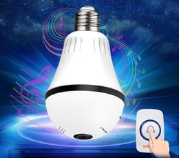Wireless cameras for home security online shopping - Newest WIFI Doorbell Light Bulb Video IP Camera CCTV Degree Panoramic Fisheye VR Cam For Home Security Wireless Two Way Audio DPHS113S