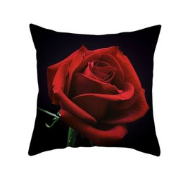 $enCountryForm.capitalKeyWord UK - 45x45cm Pillowcase 3D Rose Printed Pillow Cover Throw Cushion Decorative Pillow Case Living Room Bed Room Flower Peony Without pillow