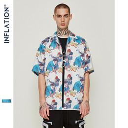 $enCountryForm.capitalKeyWord Canada - Hot VFIVE UNFOUR Mens 2019 New Arrivals Harajuku Shirt Male Casual Fish Graphic Printed Beach Shirts Short Sleeve Streetwear Hip hop blouse