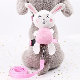 $enCountryForm.capitalKeyWord Australia - Pet cute traction rope multi-color wear-resistant belt Angel chest rope cartoon doll cat traction I-shaped support hair