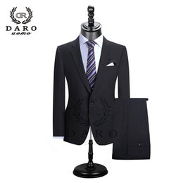 Red casual blazeRs foR men online shopping - DARO Men Suits Blazer With Pants Slim Fit Casual One Button Jacket for Wedding DR8158 SH190916