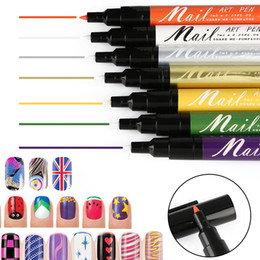 PurPle nail art designs online shopping - 16 Colors D Nail Art Decoration Set Polish Pen UV Gel Drawing DIY Design Painting Women Beauty Manicure Art Tools Paint Pens