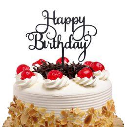 $enCountryForm.capitalKeyWord Australia - 20pc lot Acrylic Cake Toppers Flags Happy Birthday Kids Gold Silver Cupcake Topper Wedding Bride Party Baby Shower Baking DIY