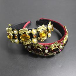 $enCountryForm.capitalKeyWord Australia - 2018 Design Catwalk Flower Baroque Headband Royal Crystal Queen Crown Headwear For Women Charm Tiara Wedding Party Jewelry 784 Y19061503