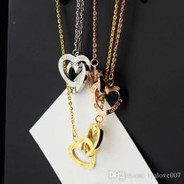 Love Couple Chain Pendant Australia - womens Stainless Steel Chain Couples Heart Love Necklaces & Pendants for Korean women Fashion Trendy love Pendants Necklaces men Model
