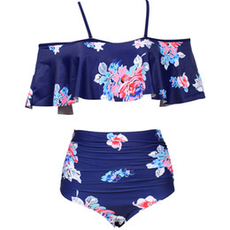 Microfiber Clothes Wholesalers Australia - Hot sell Printing Sexy Swimsuit Summer Beach Pregnant Clothes Pregnancy Swimwear High Waist Swimwear For Women Bikini Sets Maternity Woman