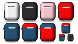Para a apple airpods capa protetora capa de silicone bolsa de manga com Anti Perdido Corda para Air Pods Bluetooth Fones De Ouvido Fones De Ouvido case venda por atacado