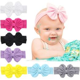 Headbands Bow Australia - Baby Girl Headbands Turban Bandanas with Bow Soft Headband For Kids Girls Clothes Hair Accessories 8 Colors U-Pick