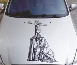 $enCountryForm.capitalKeyWord Australia - 90*45cm Car modified Jesus hood stickers Door stickers cover car garland reflective personalized