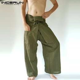 $enCountryForm.capitalKeyWord Australia - 2019 Striped Thai Fisherman Pants Men Loose Pockets Joggers Cotton Casual Yoga-pants Workout Wide Leg Trousers Men S-5XL INCERUN