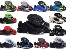 Venta al por mayor 2019 TN PLUS Zapatillas de deporte originales de moda para hombre TN AIR ShOes Sales TOP Quality Cheap France BASKET TN ReQUIN ChauSSures Tamaño 40-46 en venta