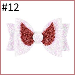 $enCountryForm.capitalKeyWord NZ - free shipping 300pcs New 3.5 Inch Glitter Princess Hair Bows Cute Sequin Angel Wings Bows Hair Clips for Girls Kids Hairpin Barrettes