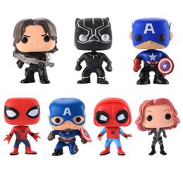$enCountryForm.capitalKeyWord NZ - 7 Designs Funko POP Action Figurines Toys The Avengers Black Panthe PVC Cartoon Action Figures Model Kids Gift LA625