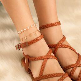 Woven anklets online shopping - Vsco Pearl Anklets For Women Vsco Girl Woven Tassel Hawaiian Style Casual Hand Ornament Beach Anklets