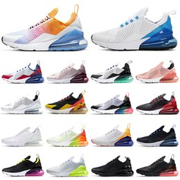 Wholesale 270 running shoes triple black white women men Chaussures Bred Be True BARELY ROSE 270s mens trainers Sport Outdoor Sneakers