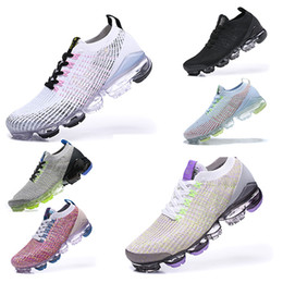 курс оптовых-vapormax Flyknit running shoes Chaussures de course Triple multi couleurs CNY pur Platinu Blanc Dusty Cactus minuit marine Hommes Femmes