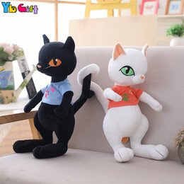kawaii cat plush 2019 - Cute Kawaii Cats Junior plush Toy Elf Cat Plush Doll Girls Children Birthday Gifts Stuffed Animal Cats Decoration Party