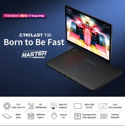Wholesale Teclast T30 tablet 10.1 inch android 9.0 4GB RAM 64GB ROM tablets MTK Helio P70 Octa Core GPS Dual WiFi cameras BT4.1 tablet pc