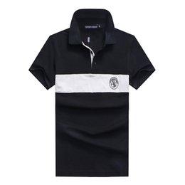 Mesh Fiber Australia - 2018 fashion designer Striped POLO shirt Slim fit Mens classic lapel T shirt luxury embroidery Mesh cotton high-quality brand tee For Men