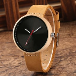 Discount red maple wood - omen's Watches Quartz Wristwatches Black Blue Red Colorful Dial Women Wrist Watch Maple Wood Case Lady Watches Simp