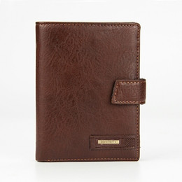 $enCountryForm.capitalKeyWord UK - Fashion Men Wallet Genuine Cow Leather Large Capacity Travel Passport Cover Case Document Holder Credit Card Holder Coin Purse