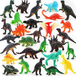 soft toys wild animals NZ - Simulation of 12 wild animal dinosaur model toys Soft rubber Jurassic dinosaur toys Children's toys Free shipping