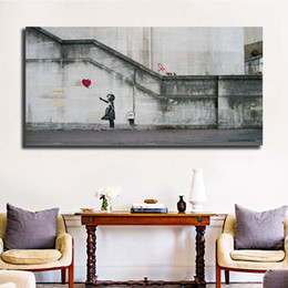 $enCountryForm.capitalKeyWord Australia - Banksy's Balloon Girl HD Wall Art Canvas Poster And Print Canvas Painting Decorative Picture For Office Living Room Home Decor
