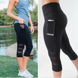 $enCountryForm.capitalKeyWord Australia - Tight Women Skinny Leggings flexible track Mesh Fitness Sports Pants female trousers Phone pocket sports Trainnin Exercise Pants