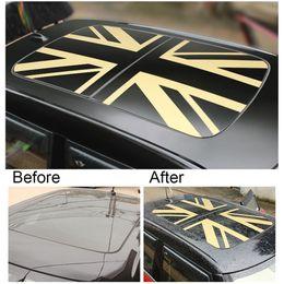 $enCountryForm.capitalKeyWord Australia - Car Sunroof Wrap Vinyl Film Roof Window Union Jack Sticker Decal Sunshade For MINI Cooper JCW S One F54 F55 F56 F60