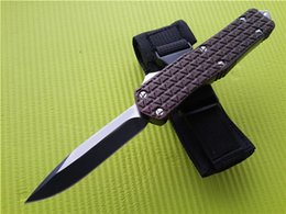 NyloN gear sets online shopping - Large C1 Brown Combat Double action tactical Custom knife Steel blade survival gear Camping Hunt Hiking knives with nylon sheath Q F