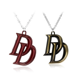 Double letter jewelry online shopping - Movie Series Marvel Jewelry Comics Superhero Daredevil Double D Letter Necklace Latest Fashion Accessories Gift