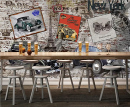 Paintings For Restaurant Australia - 3d room wallpaper custom photo mural Vintage classic car hotel restaurant bar background wall painting wallpaper for walls 3 d