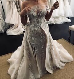 $enCountryForm.capitalKeyWord Australia - 2019 Arabic Sexy Sheath Wedding Dresses Sweetheart Embroidery Beaded Sequins Bridal Dresses Sexy Cheap Wedding Gowns ZJ154