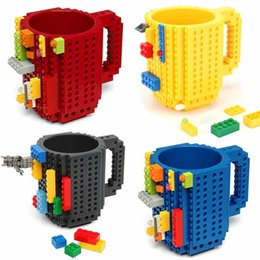 kitchen puzzle Australia - 1Pc 12oz Coffee Build-On Brick Type Building Blocks Cup DIY Block Puzzle Mug Drinkware Drinking Dinnerware Kitchen, Dining & Bar Mug 11 Colo