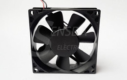 dc axial cooling fan UK - Wholesale 2PCS New Original ADDA 80x25mm AD0824UB-A71GL DC 24V 0.26A 2Wire axial server inverter Cooling Fans