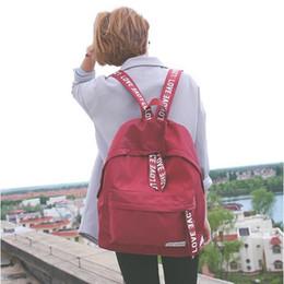 $enCountryForm.capitalKeyWord Australia - 2019 New Koeran Style Fashion Nylon Waterproof Love Letter Backpack Simple School Bag For Teenager Unisex Bagpack